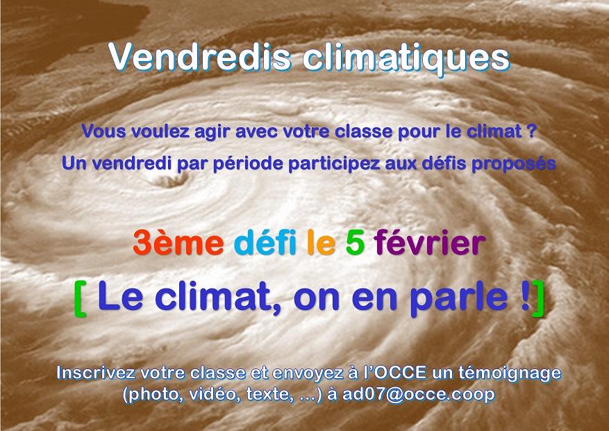Les vendredis climatiques – 2020-2021
