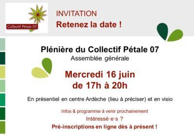 Invitation | ASSEMBLÉE GÉNÉRALE du Collectif Pétale 07
