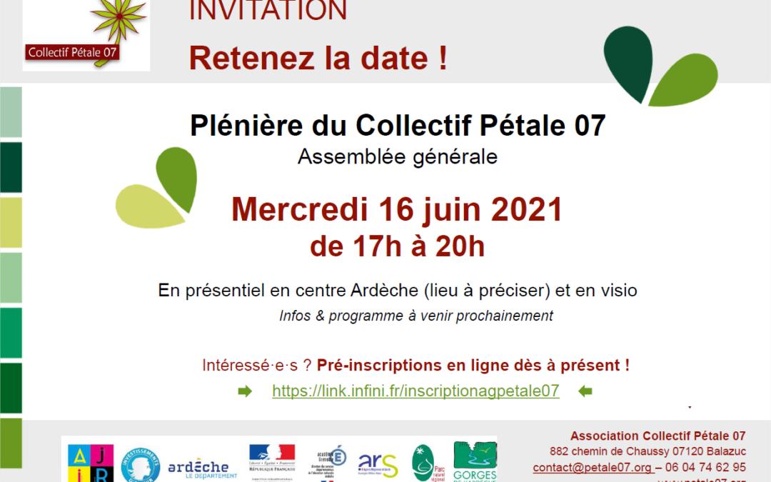 ASSEMBLÉE GÉNÉRALE 2021 du Collectif Pétale 07
