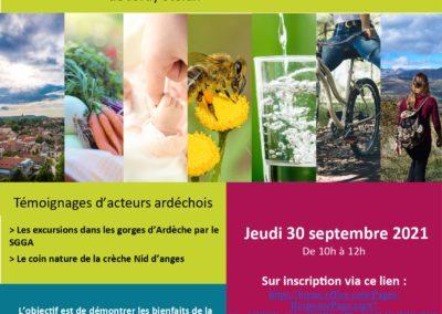Visioconférence Nature et Santé « La nature pour se faire du bien »